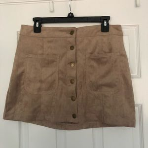 Suede mini skirt size M